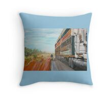 The Camooweal Track - Cattle Truck Throw Pillow