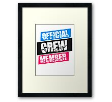 Official Crew Member Logo Framed Print