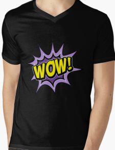 wow Mens V-Neck T-Shirt