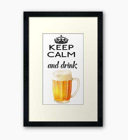 Beer Alcohol Drink Framed Print