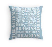 """Dragons Dragons"" T-Shirt Throw Pillow"