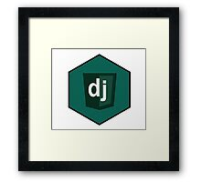 django programming language hexagonal sticker Framed Print