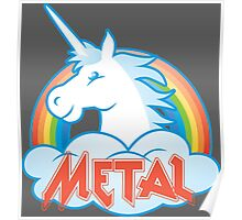 Metal Unicorn Poster