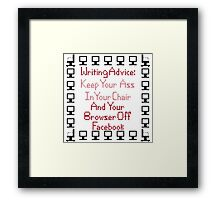 Writing Advice - How To Be a Success Framed Print