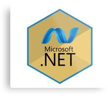 .net net programming language hexagonal sticker Metal Print