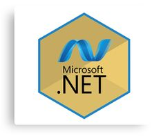 .net net programming language hexagonal sticker Canvas Print