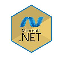 .net net programming language hexagonal sticker Photographic Print