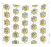 .net net programming language hexagonal sticker Wall Tapestry