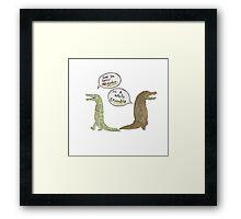 The Alligator and Crocodile Framed Print
