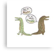 The Alligator and Crocodile Canvas Print