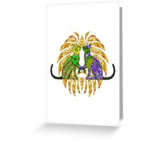 Hearts Of Green And Purple  Greeting Card