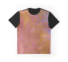 Rose and Powder Blue Abstract Graphic T-Shirt