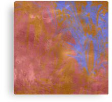 Rose and Powder Blue Abstract Canvas Print