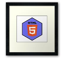 html html5 programming language hexagonal sticker Framed Print
