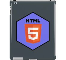 html html5 programming language hexagonal sticker iPad Case/Skin