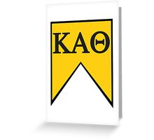 Kappa Alpha Theta Flag Greeting Card