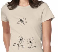 Dragonfly  Departing Womens Fitted T-Shirt
