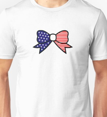 American Flag Bow Unisex T-Shirt