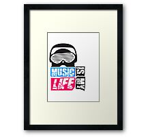 Music is my life Design Framed Print