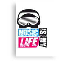 Music is my life Design Canvas Print