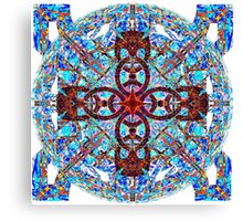 Hot Cross Pattern Over Cold Knots Canvas Print