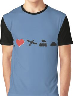 I love planes, trains, and automobiles Graphic T-Shirt