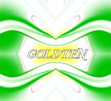 goldten splash art 1 Sticker