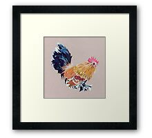 Colored Pencil Rooster Framed Print