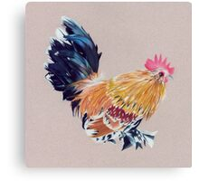 Colored Pencil Rooster Canvas Print