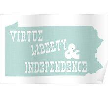 Pennsylvania State Slogan Motto Poster