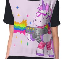 Bad-Ass Barney The Unicorn Chiffon Top