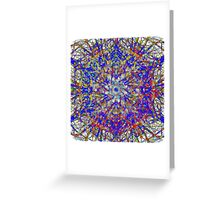 Glowing Action Painting In Red And Blue Greeting Card