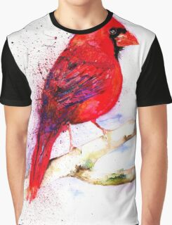 Red Cardinal Graphic T-Shirt