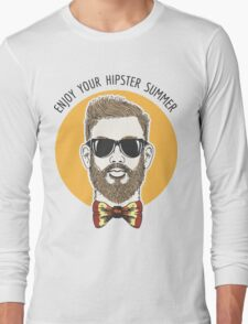 Hipster Summer Emblem Long Sleeve T-Shirt
