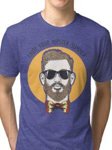 Hipster Summer Emblem Tri-blend T-Shirt