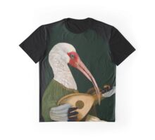 Lute-Playing Ibis - Anthropomorphic Art Graphic T-Shirt