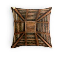 The Pyramid Ceiling/Roof of Church of the Three Mile Run Throw Pillow