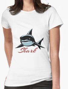 Shark Emblem Womens Fitted T-Shirt
