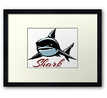 Shark Emblem Framed Print