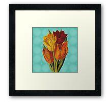 Vintage Tulips Framed Print