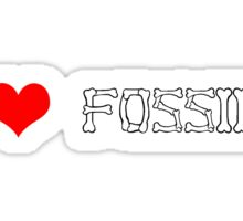 I love fossils Sticker