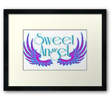 Sweet Angel with Wings Framed Print