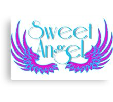 Sweet Angel with Wings Canvas Print