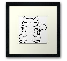 witty kitty Framed Print