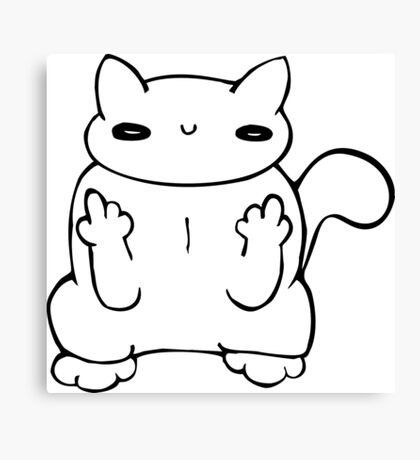 witty kitty Canvas Print