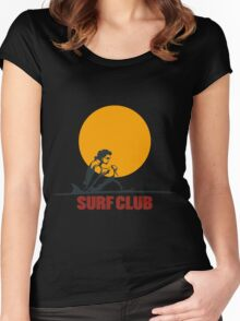 Surf club emblem Women's Fitted Scoop T-Shirt