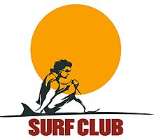 Surf club emblem Photographic Print