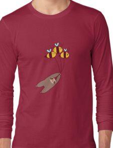 Sloth and Bumble Bees Long Sleeve T-Shirt