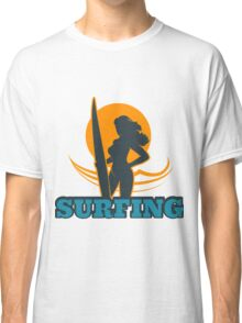 Surfing Colorful Emblem Classic T-Shirt