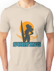 Surfing Colorful Emblem Unisex T-Shirt